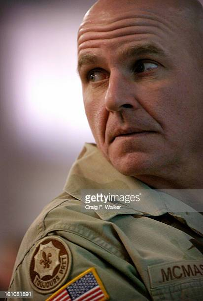 SPRINGS CO Col HR McMaster Commander of the 3rd Armored Cavalry Regiment listens to a speaker during an Afteraction Review Conference at Fort Carson...