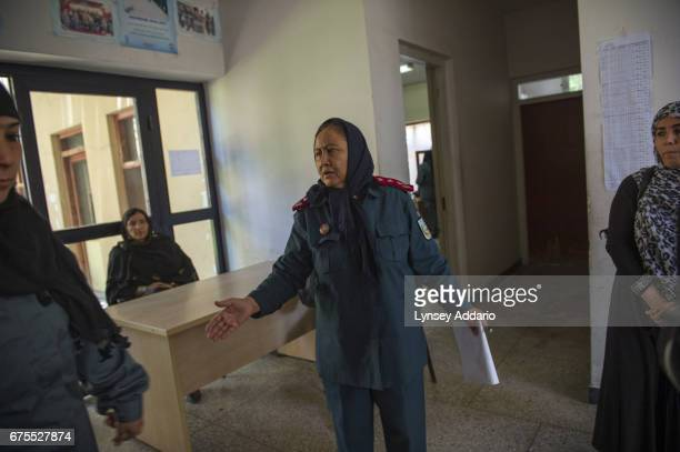 Col Niaz Bibi orders around young women police in training from across Afghanistan at the Police Academy in Kabul Afghanistan June 15 2013 As NATO...