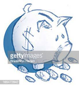 05 col x 1 in / 22x25 mm / 75x86 pixels Craig White color illustration of piggy bank and coins