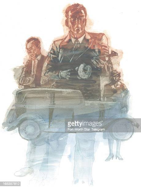 4 col x 1025 in / 196x260 mm / 667x886 pixels Jim Atherton color illustration for a review of 'Handsome Harry or the Gangster's True Confessions' by...