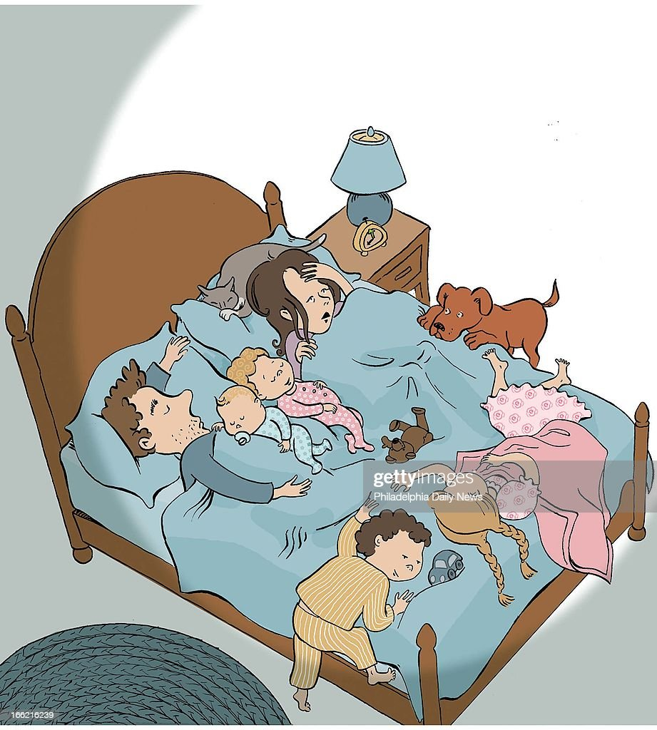 Kids Sleeping In Parents Room Part - 41: Sleeping Parents. 5 Col X 10.75 In / 246x273 Mm / 837x929 Pixels Amy  Raudenbush Color Illustration Of