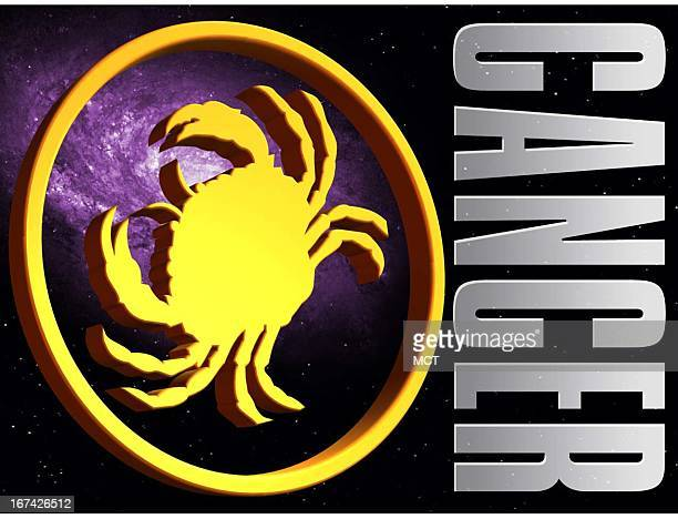 2 col x 325 in / 108x83 mm / 368x281 pixels Kurt Strazdins color illustration of the zodiac sign for Cancer the crab