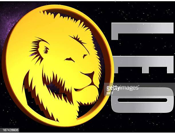 2 col x 325 in / 108x83 mm / 368x281 pixels Kurt Strazdins color illustration of the zodiac sign for Leo the lion