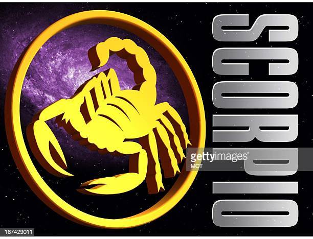2 col x 325 in / 108x83 mm / 368x281 pixels Kurt Strazdins color illustration of the zodiac sign for Scorpio the scorpion