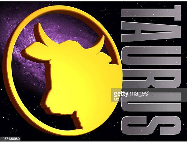 2 col x 325 in / 108x83 mm / 368x281 pixels Kurt Strazdins color illustration of the zodiac sign for Taurus the bull