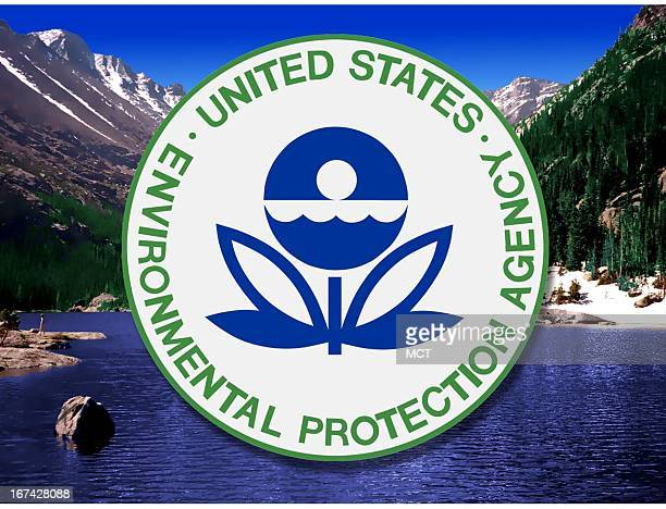 2 col x 325 inches/108x83 mm/368x281 pixels Kurt Strazdins color illustration of the Environmental Protection Agency logo over a background photo of...