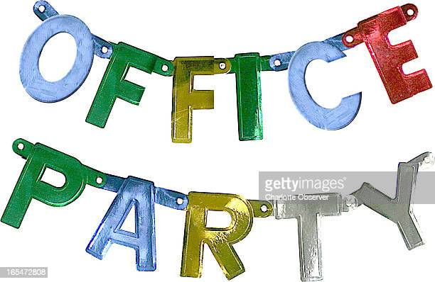 4 col x 5 in / 196x127 mm / 667x432 pixels Holly Farrant color illustration of a colorful banner decoration for office party