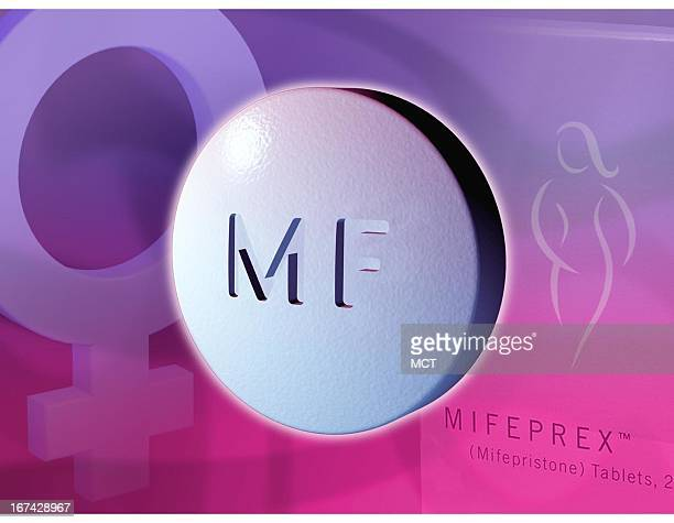 3 col x 5 inches/164x127 mm/558x432 pixels Kurt Strazdins color illustration of a Mifeprex pill also known as the RU486 abortion pill with the female...