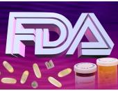 3 col x 5 inches/164x127 mm/558x432 pixels Kurt Strazdins color illustration of the initials 'FDA' along with pills and prescription medicine bottles