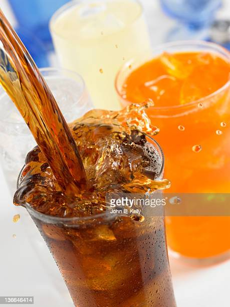Cola pour with Various Drinks