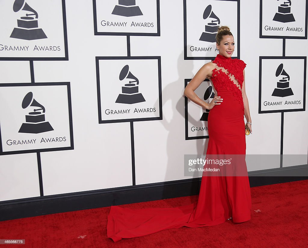 Colbie Caillat arrives at the 56th Annual GRAMMY Awards at Staples Center on January 26, 2014 in Los Angeles, California.