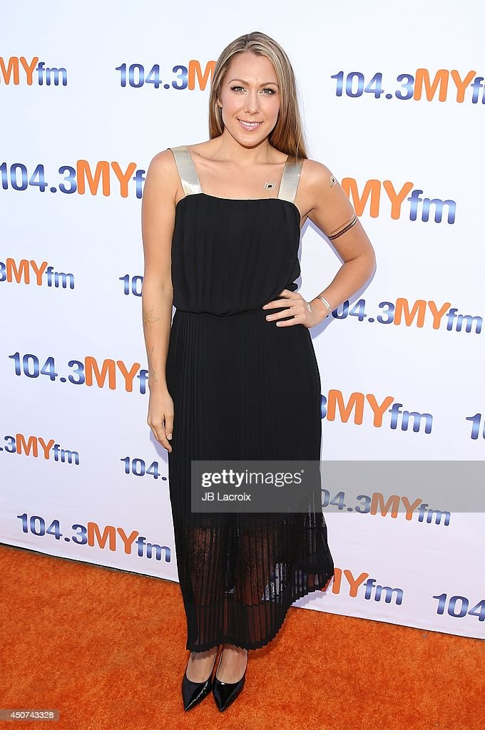 <a gi-track='captionPersonalityLinkClicked' href=/galleries/search?phrase=Colbie+Caillat&family=editorial&specificpeople=4410812 ng-click='$event.stopPropagation()'>Colbie Caillat</a> attends the 104.3 MY FM Presents My Big Night Out on June 16, 2014 in Hollywood, California.