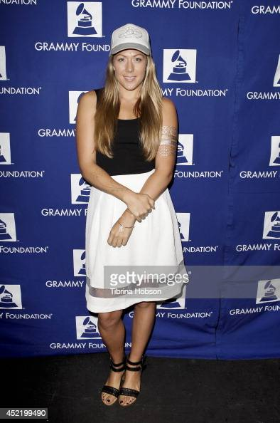Colbie Caillat attends the GRAMMY Foundation's 10th annual GRAMMY Camp at USC Thornton School of Music on July 15 2014 in Los Angeles California
