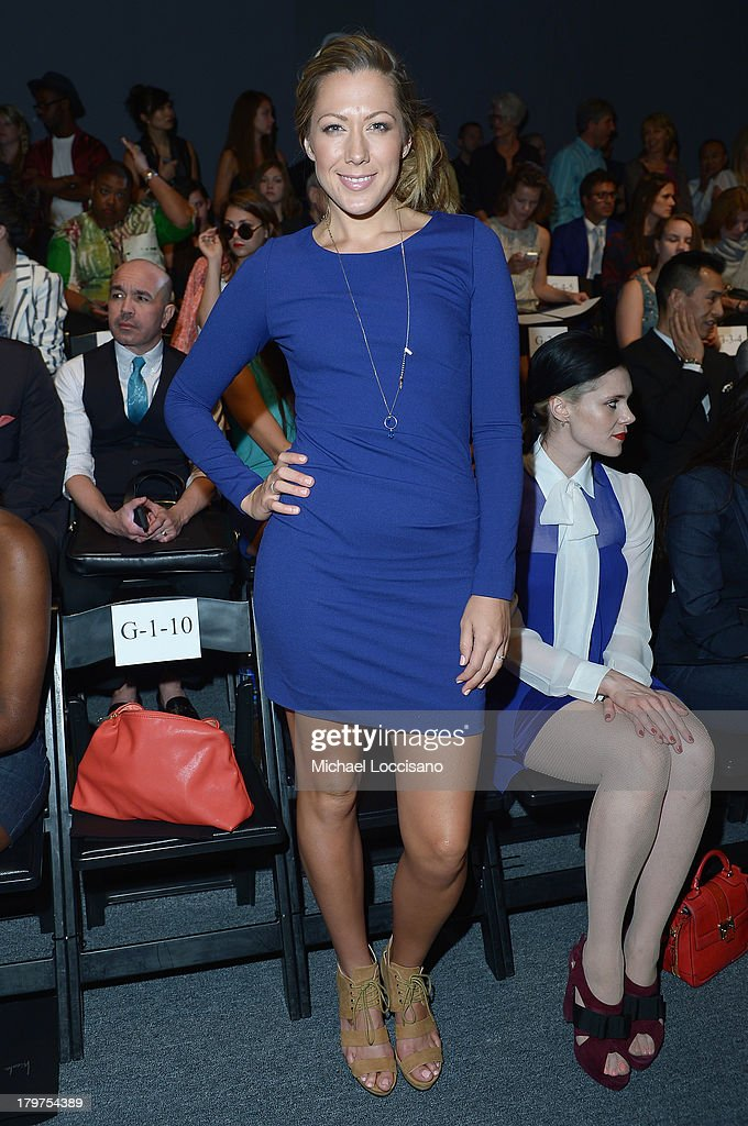 <a gi-track='captionPersonalityLinkClicked' href=/galleries/search?phrase=Colbie+Caillat&family=editorial&specificpeople=4410812 ng-click='$event.stopPropagation()'>Colbie Caillat</a> attends the Nicole Miller Spring 2014 fashion show during Mercedes-Benz Fashion Week at The Studio at Lincoln Center on September 6, 2013 in New York City.
