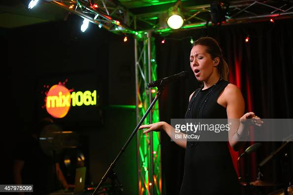 Colbie Caillat performs at Mix 1061 Performance Theater December 19 2013 in Bala Cynwyd Pennsylvania