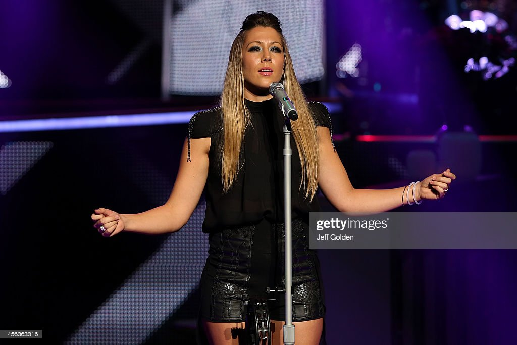 Colbie Caillat performs at the Fred Kavli Theatre as she tours in support of her new album 'Gypsy Heart' on September 26 2014 in Thousand Oaks...