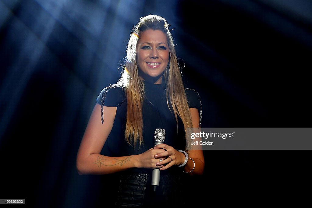 <a gi-track='captionPersonalityLinkClicked' href=/galleries/search?phrase=Colbie+Caillat&family=editorial&specificpeople=4410812 ng-click='$event.stopPropagation()'>Colbie Caillat</a> performs at the Fred Kavli Theatre as she tours in support of her new album 'Gypsy Heart' on September 26, 2014 in Thousand Oaks, California.