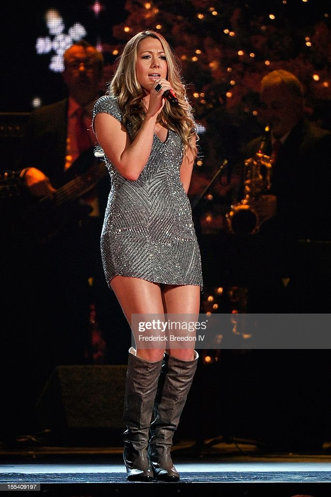 Colbie Caillat performs during the 2012 Country Christmas at the Bridgestone Arena on November 3, 2012 in Nashville, United States.
