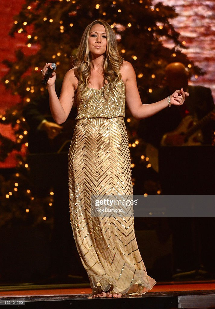 Colbie Caillat performs during the 2012 Country Christmas concert on November 3, 2012 at the Bridgestone Arena in Nashville, Tennessee. The special airs Thursday, December 20 from 9:00-11:00 p.m., ET on the ABC Television Network.