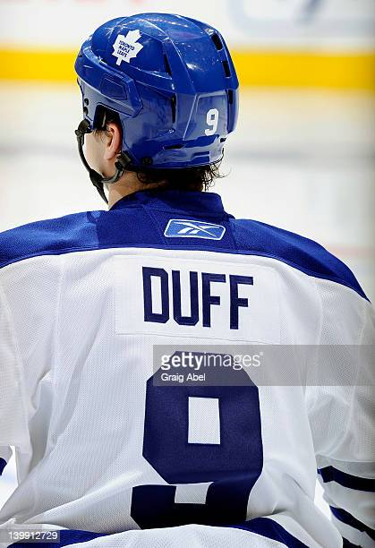 ... Colby Armstrong of the Toronto Maple Leafs wears a Dick Duff jersey  honouring the 1962 Stanley ... bec4f3ad4