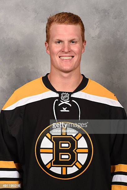 Colby Cave of the Boston Bruins poses for his official headshot for the 20152016 season on September 18 2015 at the TD Garden in Boston Massachusetts