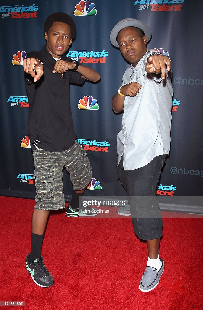 Colby Granger, aka ColyCole (L) and brother Anthony Granger, aka Tone The Chiefrocca attend 'Americas Got Talent' Season 8 Post-Show Red Carpet Event at Radio City Music Hall on July 24, 2013 in New York City.
