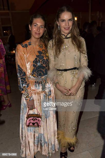 Colby Mugrabi and Eugenie Niarchos attend the opening of Damien Hirst 'Treasures From The Wreck Of The Unbelievable' new exhibition on April 8 2017...
