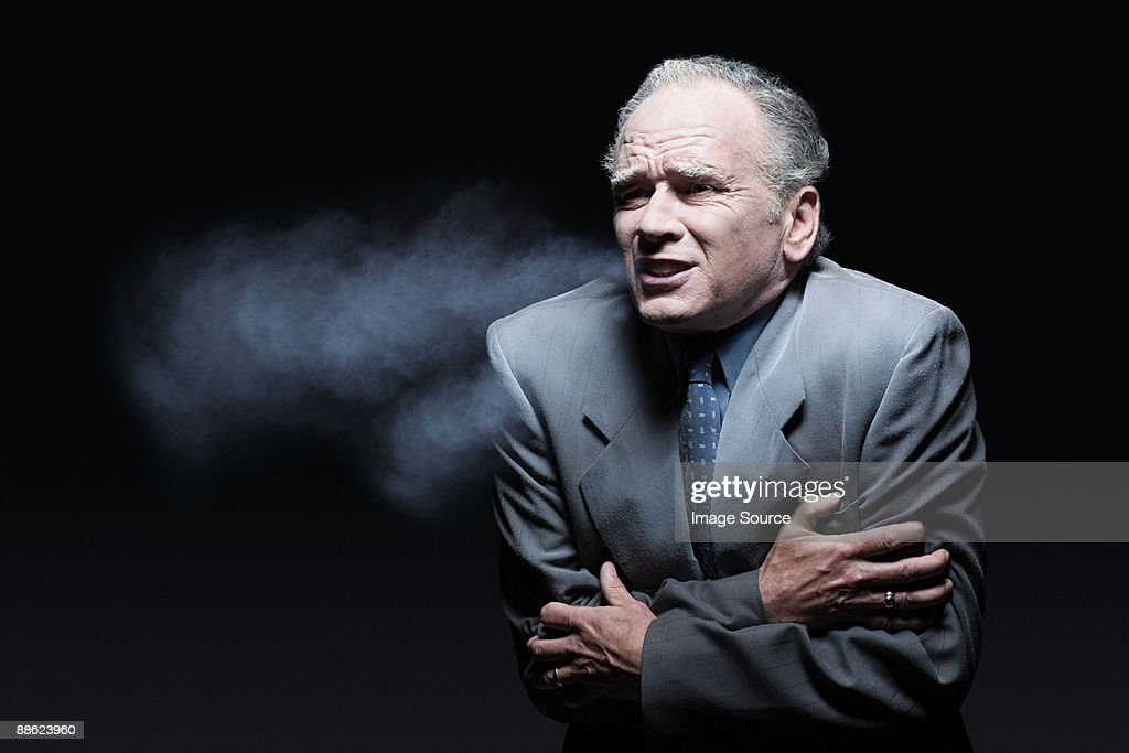 Cold businessman : Stock Photo
