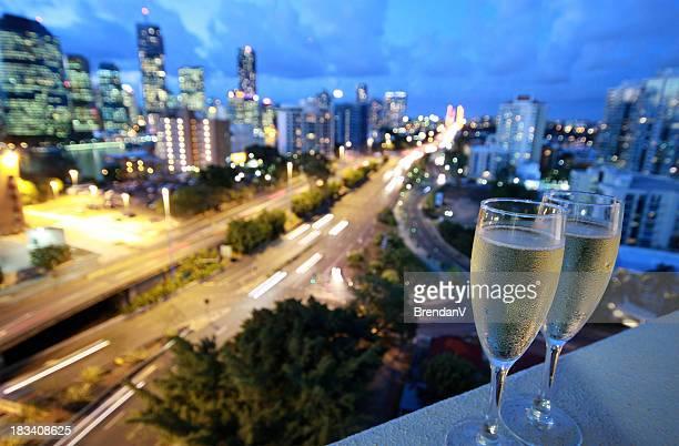 Cold champagne glasses