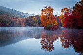 Cold dawn at Hidden Lake