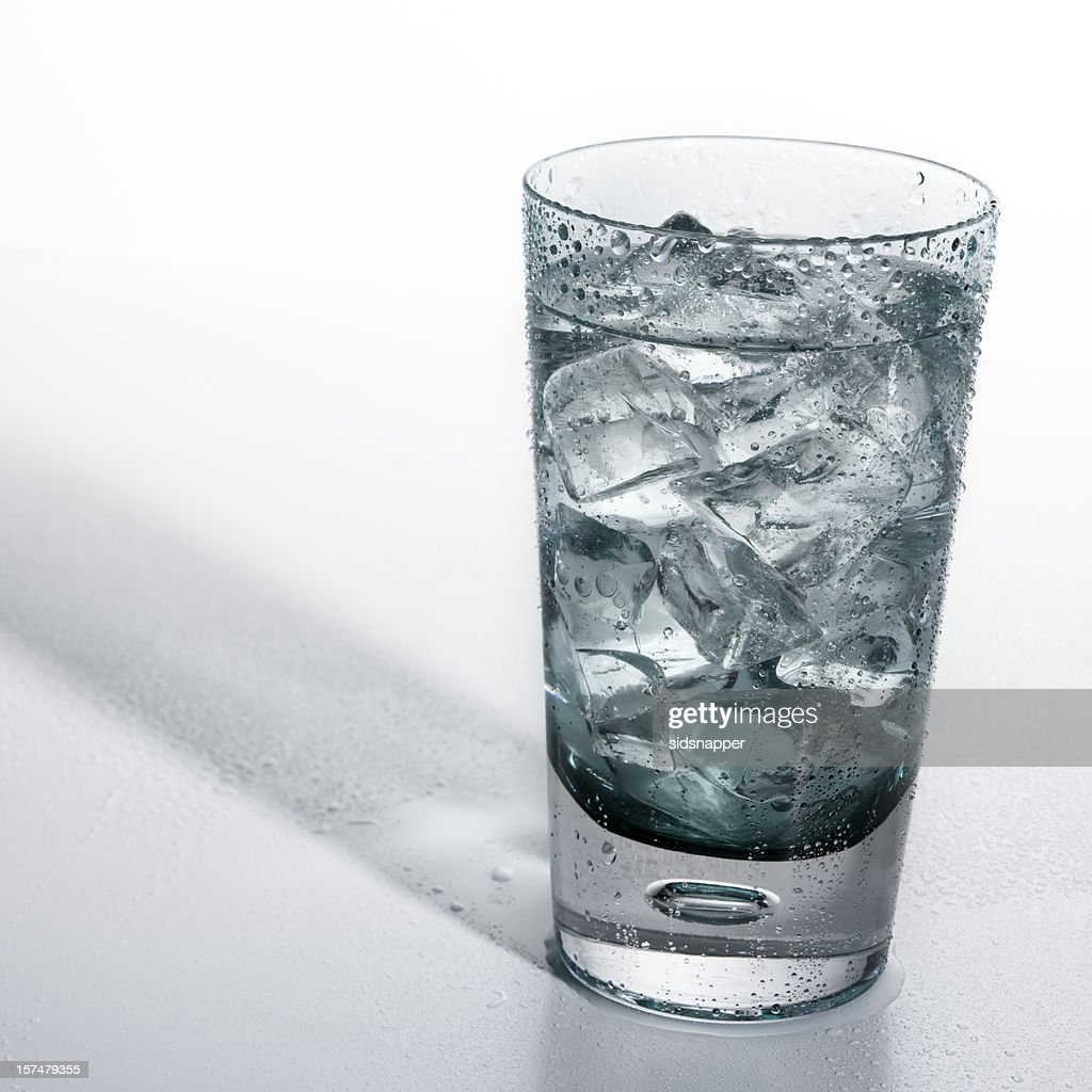 Cold glass of soda