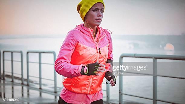 Cold morning run