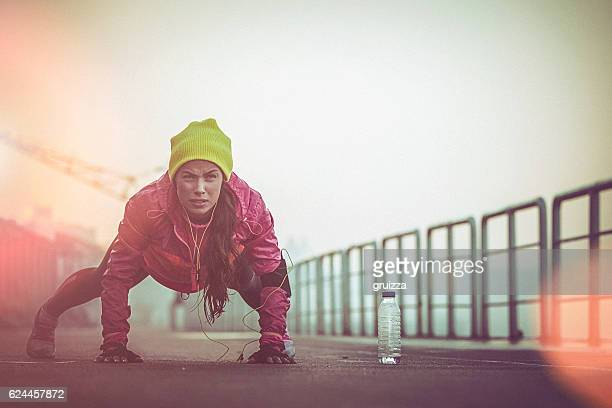 Cold morning workout
