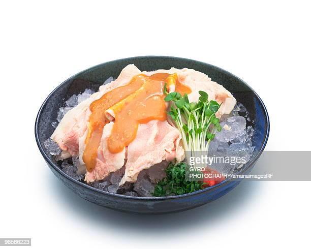 Cold pork shabu shabu