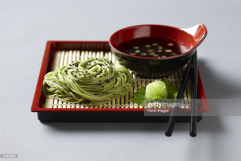 cold soba noodles or zarusoba : Stock Photo