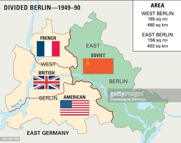 Cold War Berlin 19481990 Historical map