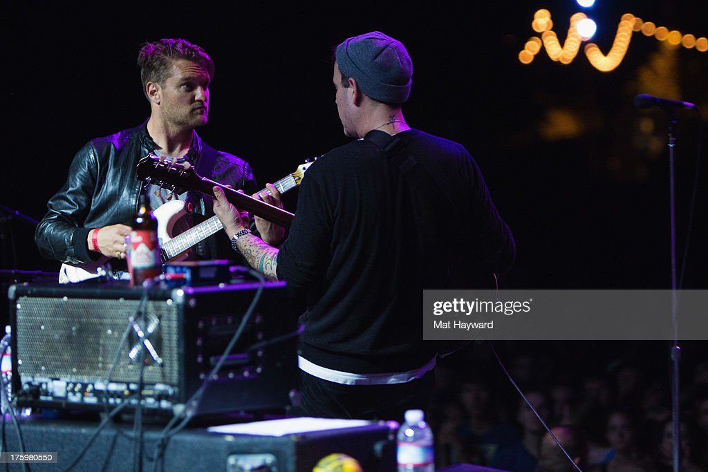 Cold War Kids perform on stage during Summer Camp hosted by 107.7 The End at Marymoor Park on August 10, 2013 in Seattle, Washington.