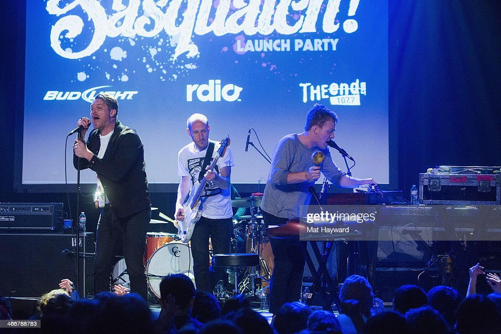 Cold War Kids perform on stage during the Sasquatch Launch Party at Neptune Theatre on February 3, 2014 in Seattle, Washington.