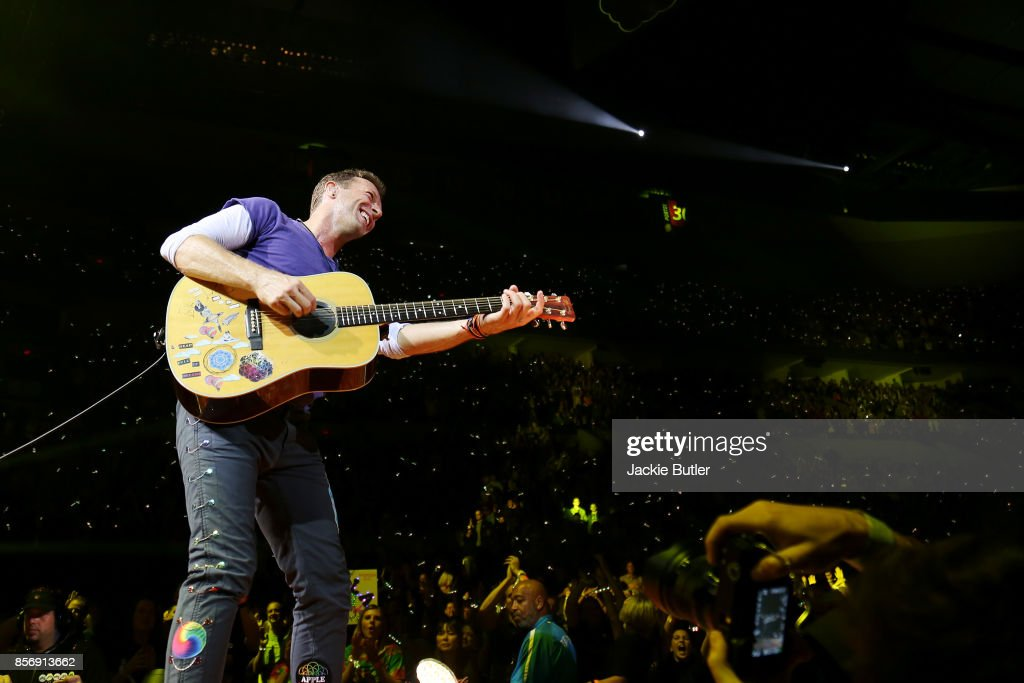 Coldplay perform at Moda Center on October 2, 2017 in Portland, Oregon.