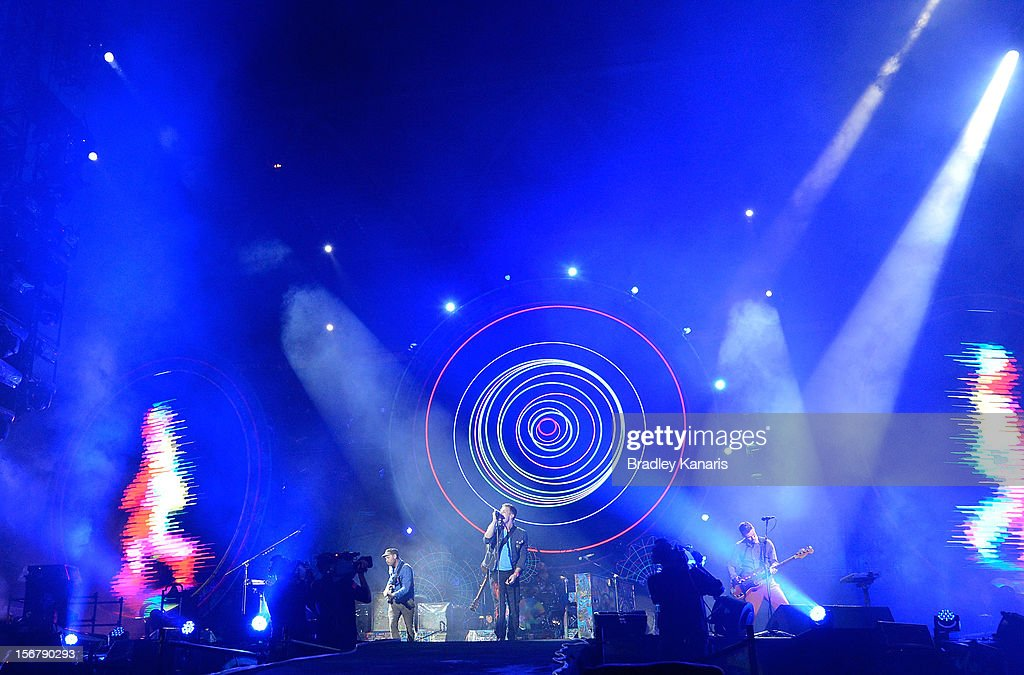 Coldplay perform live for fans at Suncorp Stadium on November 21, 2012 in Brisbane, Australia.