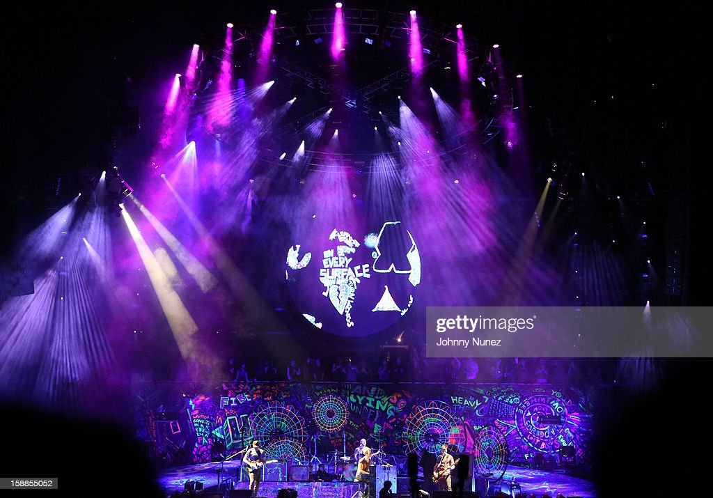 Coldplay performs at Barclays Center on December 31, 2012 in the Brooklyn borough of New York City.
