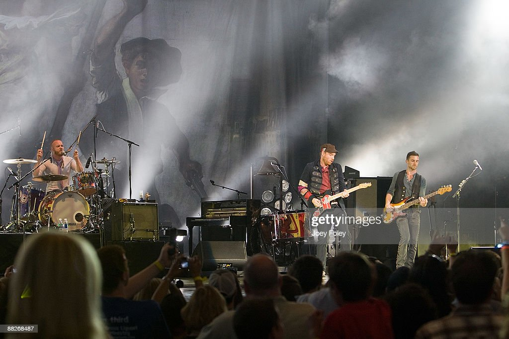 Coldplay performs at the Verizon Wireless Music Center on June 5, 2009 in Noblesville, Indiana.