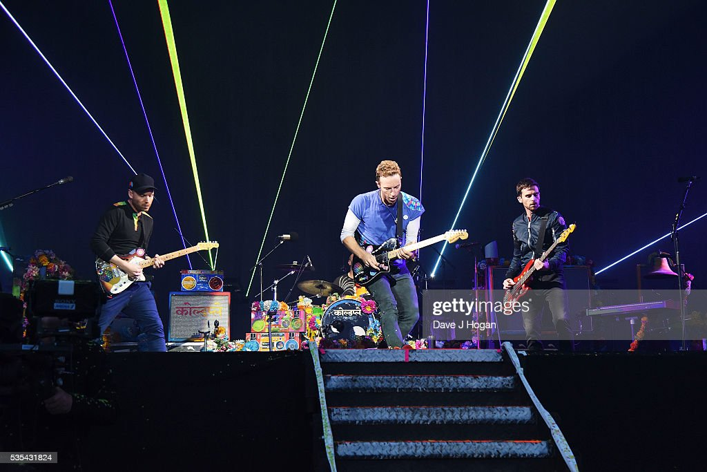 Coldplay performs during day 2 of BBC Radio 1's Big Weekend at Powderham Castle on May 29, 2016 in Exeter, England.