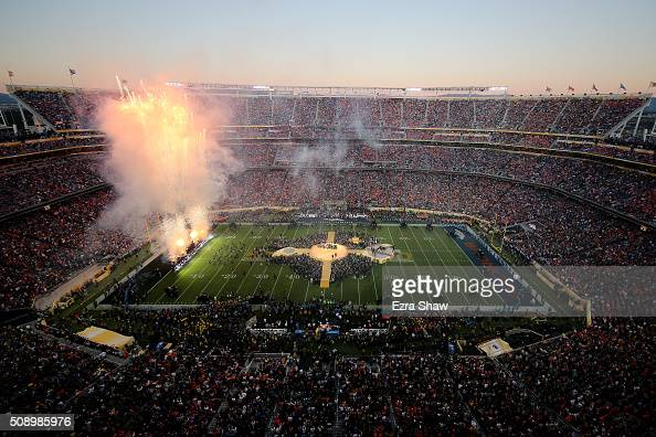 Coldplay performs during the Pepsi Super Bowl 50 Halftime Show at Levi's Stadium on February 7 2016 in Santa Clara California