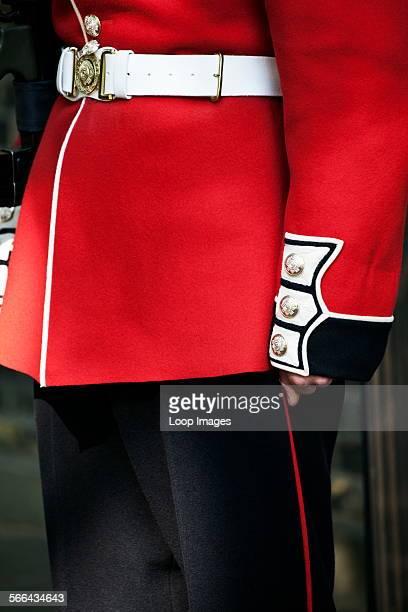 A Coldstream Guard on duty in the Mall