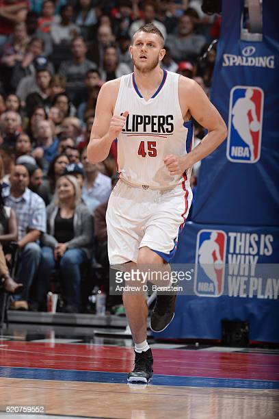 Cole Aldrich of the Los Angeles Clippers is seen against the Memphis Grizzlies on April 12 2016 at STAPLES Center in Los Angeles California NOTE TO...
