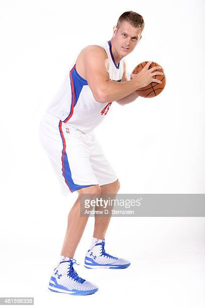 Cole Aldrich of the Los Angeles Clippers poses for a portrait at STAPLES Center on July 21 2015 in Los Angeles California NOTE TO USER User expressly...