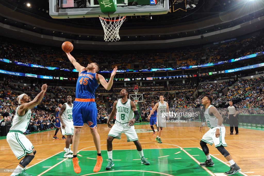 <a gi-track='captionPersonalityLinkClicked' href=/galleries/search?phrase=Cole+Aldrich&family=editorial&specificpeople=4226189 ng-click='$event.stopPropagation()'>Cole Aldrich</a> #45 of the New York Knicks grabs a rebound against the Boston Celtics on March 12, 2014 at the TD Garden in Boston, Massachusetts.