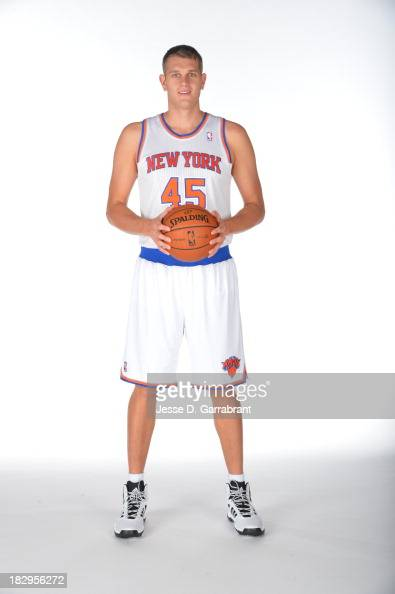 Cole Aldrich of the New York Knicks poses for a portrait at Media Day on September 30 2013 at Madison Square Garden in New York City New York NOTE TO...