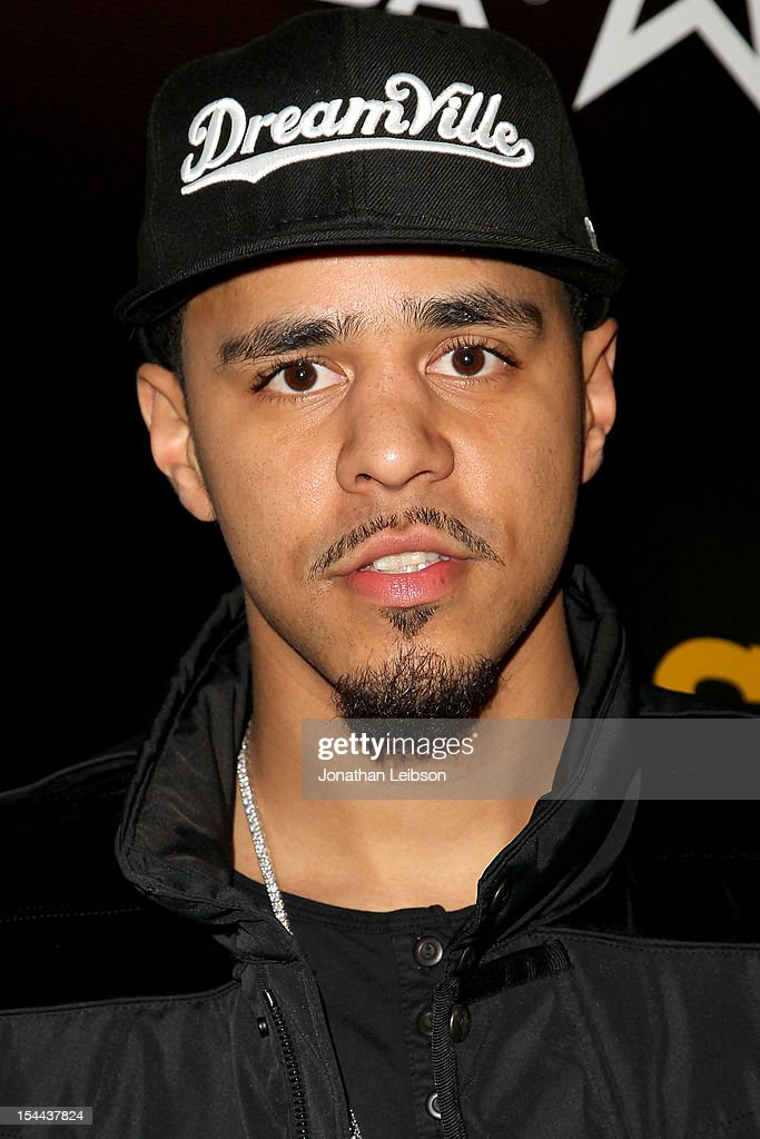 <a gi-track='captionPersonalityLinkClicked' href=/galleries/search?phrase=J.+Cole&family=editorial&specificpeople=5958978 ng-click='$event.stopPropagation()'>J. Cole</a> attends Footaction's 'Own The Stage' Celebration at W Hollywood on October 19, 2012 in Hollywood, California.